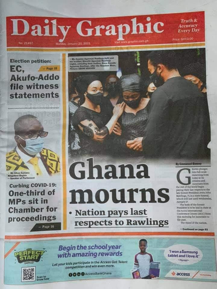 Newspaper headlines of Monday, January 25, 2021 70